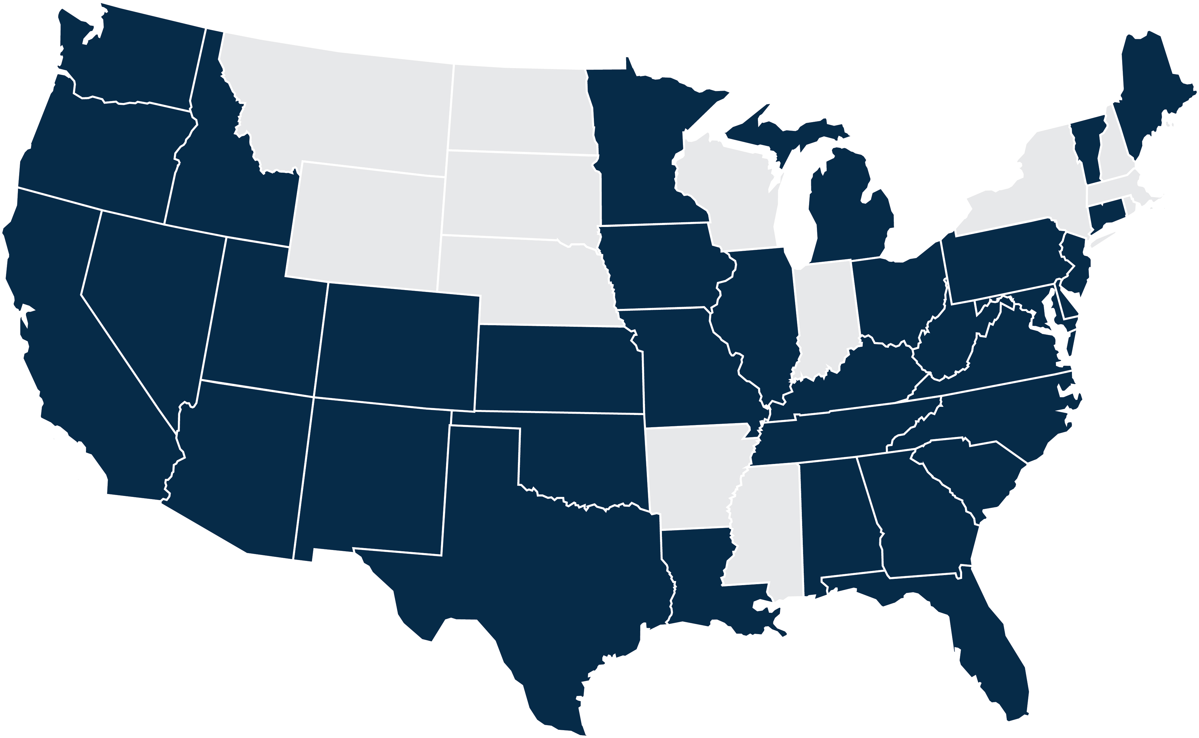 Registered States Map