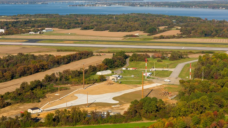 Golden Sands General Contractors Completes Vertical Electromagnetic Pulse Simulator At The Naval Air Station,  Patuxent River, Maryland